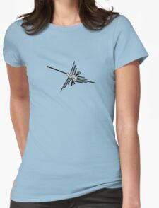 Nazca Hummingbird Typography  Womens Fitted T-Shirt