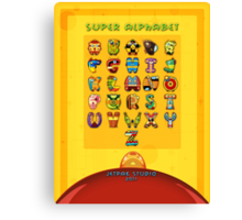 Super Alphabet back cover Canvas Print