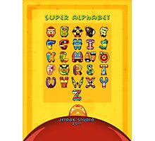Super Alphabet back cover Photographic Print