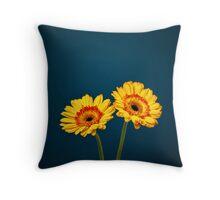 Golden Gerberas Throw Pillow