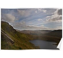 View of Llyn Llydaw, from Mt Snowdon, Wales  Poster