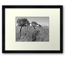 Dump Rake in the Grass Framed Print