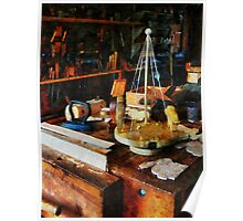 Wooden Toys in Wood Shop Poster
