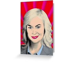 Amy Poehler Original Pop Art Greeting Card