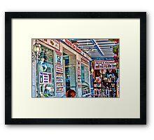 """TASTE OF GREECE""  Tarpon Springs, Florida Framed Print"