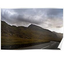 Mount Snowdon - Looking back at sunset Poster