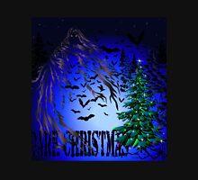 Dark Christmas Tree and Bats Unisex T-Shirt