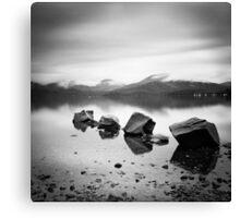 Scotland: Lomond Rocks Canvas Print