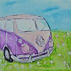 Split Screen Camper Van  by Bethany Olechnowicz