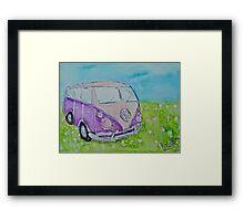 Split Screen Camper Van  Framed Print