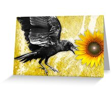 the ravens sunflower Greeting Card