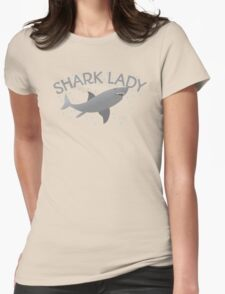 (awesome NEW Crazy) grey Shark Lady Womens Fitted T-Shirt