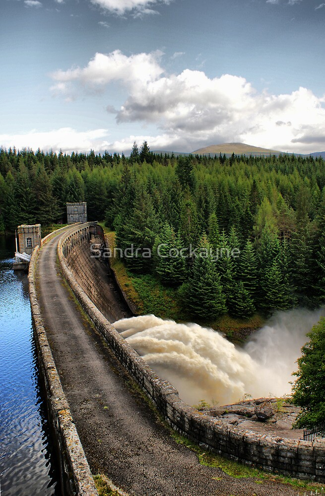Loch Laggan Dam, Scotland by Sandra Cockayne