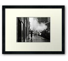 NYC: Umbrella Framed Print
