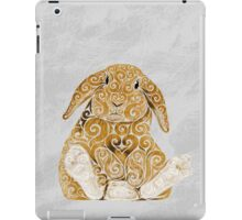 Swirly Bunny iPad Case/Skin