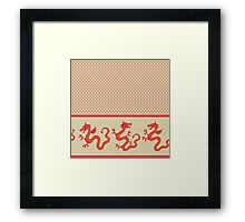dragon pattern for 2012 new year Framed Print
