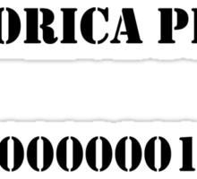 Pandorica Prison Sticker