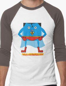 supersquareman Men's Baseball ¾ T-Shirt
