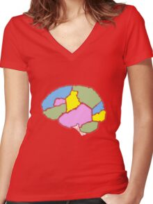 Fill in your own brain chart Women's Fitted V-Neck T-Shirt