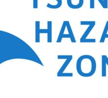 Tsunami Hazard Zone, Sign, Canada Sticker