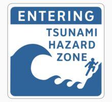 Tsunami Hazard Zone, Sign, Canada Kids Tee