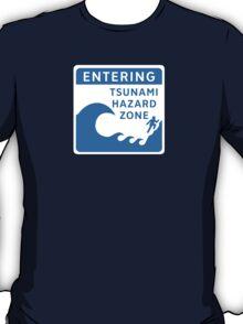 Tsunami Hazard Zone, Sign, Canada T-Shirt