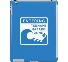 Tsunami Hazard Zone, Sign, Canada iPad Case/Skin