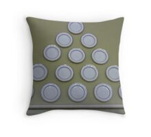 Plate pyramid. Throw Pillow