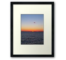 Titian sunset - Cape Charles, Virginia Framed Print