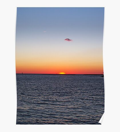 Titian sunset - Cape Charles, Virginia Poster