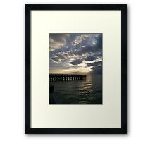 Stretched sky - Cape Charles, Virginia Framed Print
