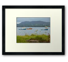 Fishing boats at Milford Framed Print