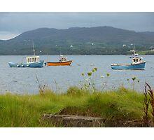 Fishing boats at Milford Photographic Print