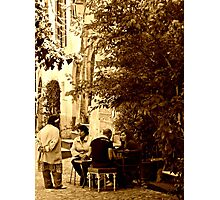Chatting in Calcata-Italy Photographic Print