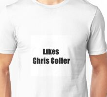 likes chris colfer Unisex T-Shirt