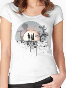 Samurai Champloo - Sunset Women's Fitted Scoop T-Shirt
