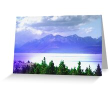 Mountains and Lakes 1 Greeting Card