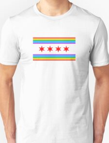 Chicago Rainbow Pride Flag T-Shirt