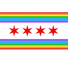 Chicago Rainbow Pride Flag Photographic Print