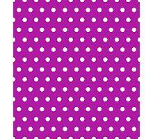 Small White Polka Dots on Magenta background Photographic Print