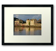 Sunlight Over The Quay. Framed Print