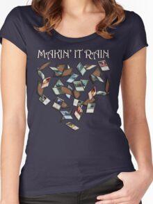 Makin' It Rain Cards Women's Fitted Scoop T-Shirt