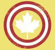 Captain Canada (White Leaf) Kids Clothes