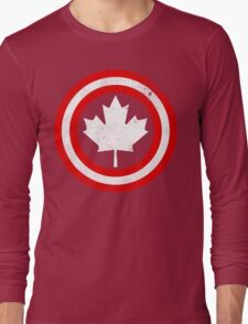 Captain Canada (White Leaf) Long Sleeve T-Shirt