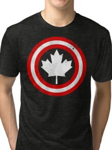 Captain Canada (White Leaf) Tri-blend T-Shirt