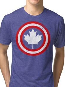 Captain Canada (White Leaf) Tri-blend T-Shirt