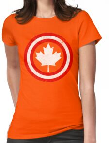 Captain Canada (White Leaf) Womens Fitted T-Shirt