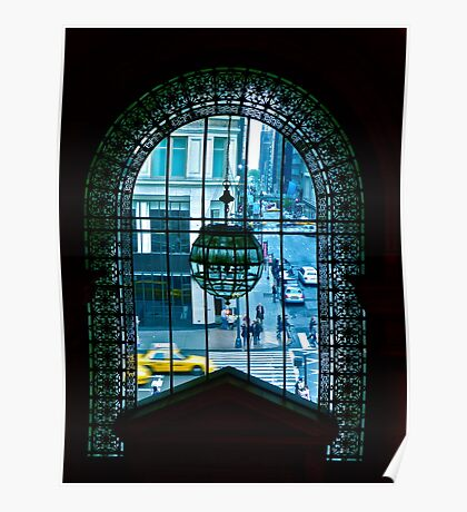 New York City through a looking glass Poster