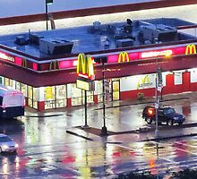 Mickey Dees waiting for the Hurricane  by Alberto  DeJesus