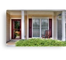 porch with rocking chair Canvas Print